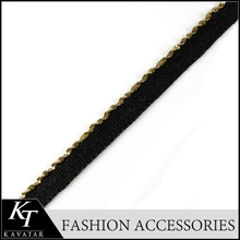 Black Golden wholesale fashion types of trimmings