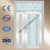 2014 most popular Mother-son solid pattern stainless steel door