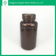 200ml Brown Colored Plastic Pill / Tablet Bottle with Flip Top Cap