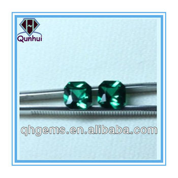 magnetically chamfering square shaped green spinel