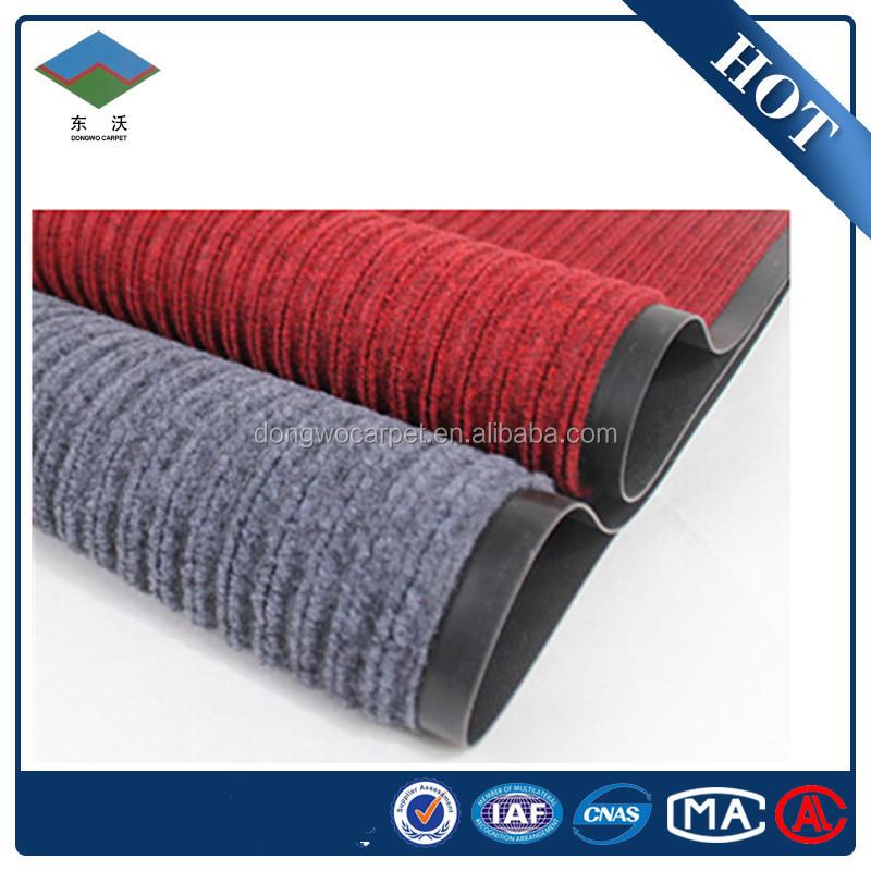 Gute qualität angemessene outdoor rippe teppich mit pvc