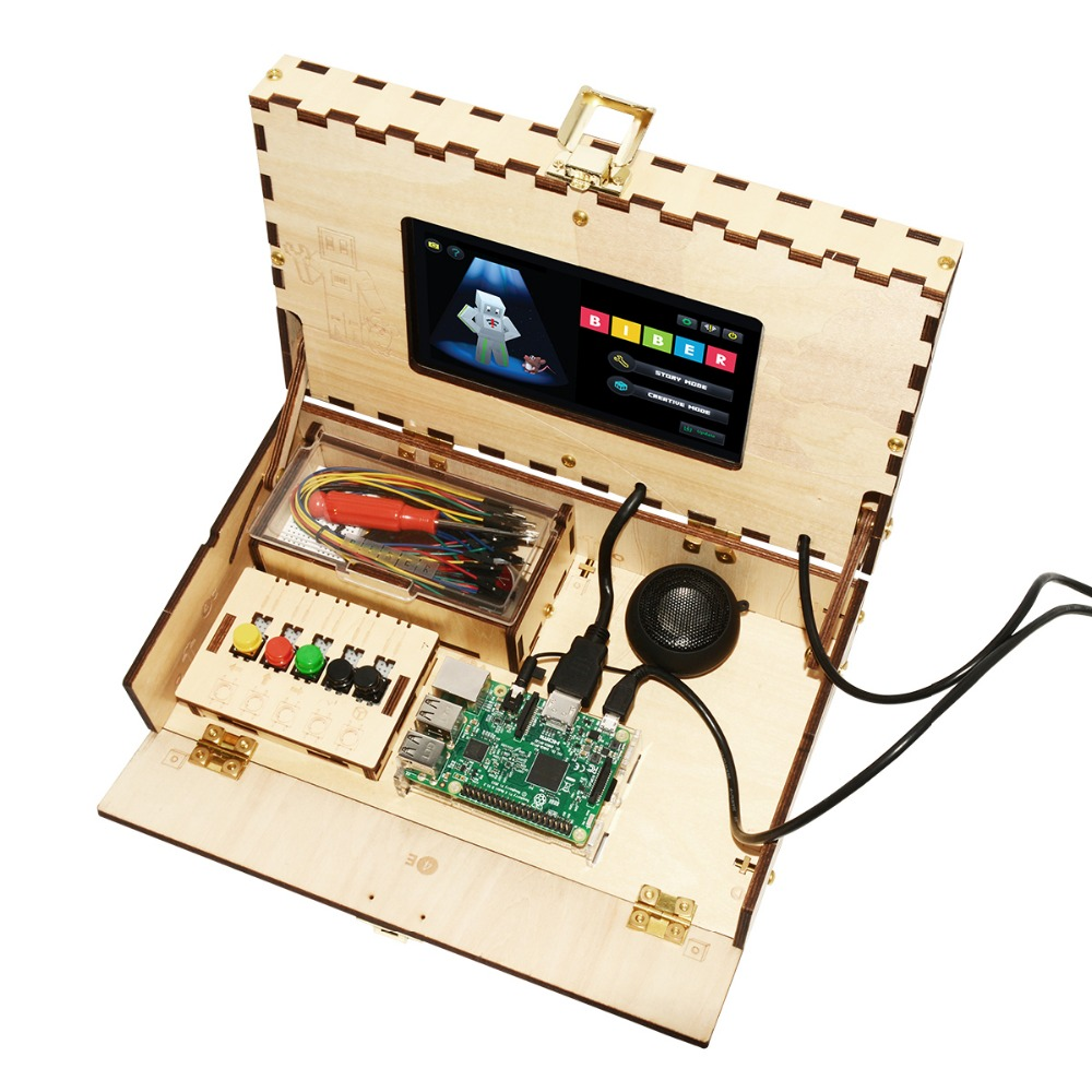 Teqstone Educational Kids Wooden Computer Toy Kits With Wifi Circuit For Downladcable Buy Diy Kitwooden Kitswifi Product On Alibabacom