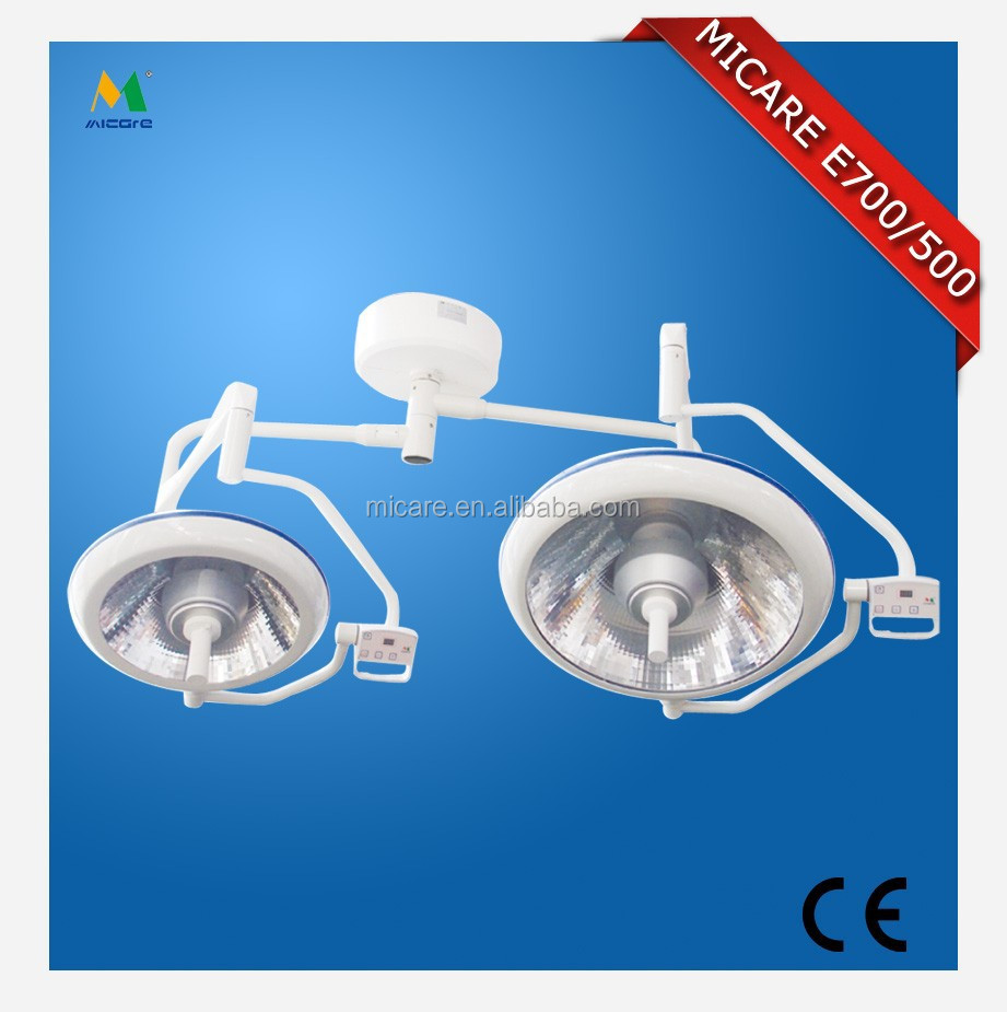 Micare E500/700 Double Domes LED Shadowless Nuerosurgery Ceiling OT Light