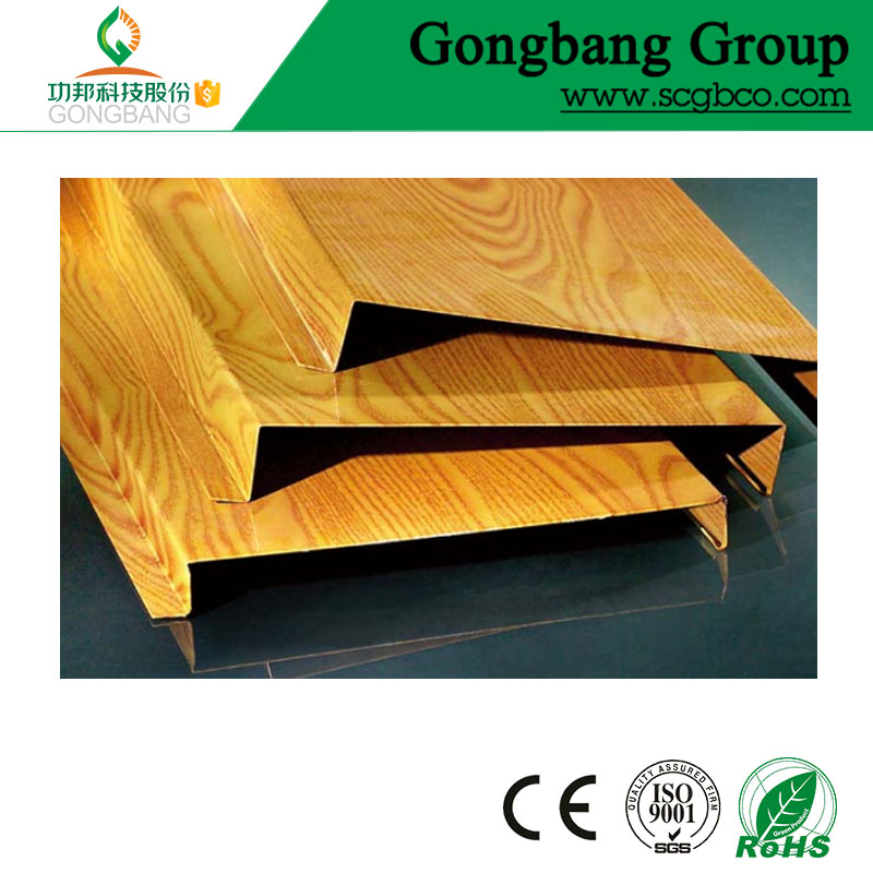 building materials wood linear aluminium lamp ceiling for wall decoration