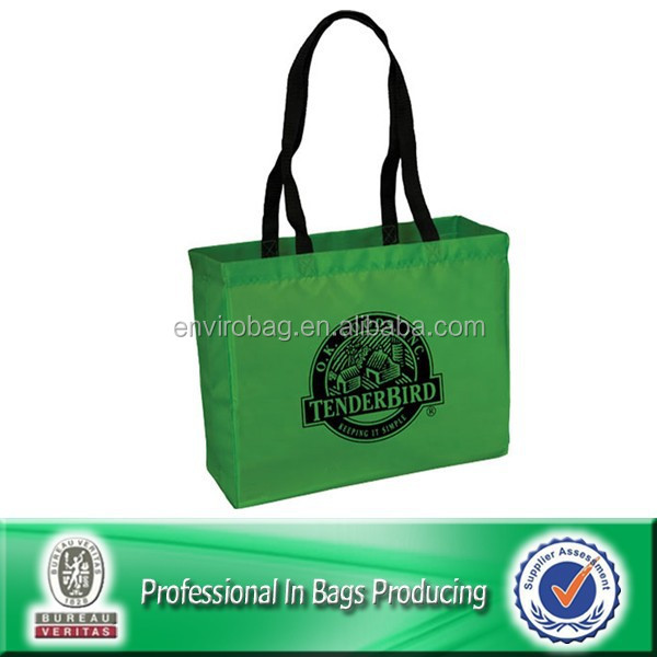 Customized Cheap Polyester Folding Recycle Eco Friendly Tote Bag Shopping Bag