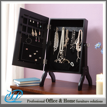 YL-B2033 Wholesale Best Price Black Standing Dressing Mirror Jewelry Box Wooden