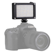 Factory PULUZ 96 LEDs 860LM Professional Photography Video Studio Light with White and Orange Magnet Filters Light Panel