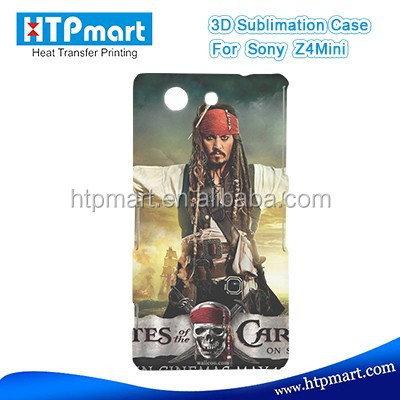 phone case 3d blank top quality plastic phone case for Sony Z4 mini
