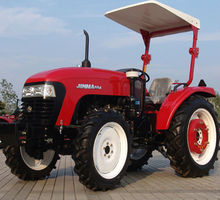 JINMA 55HP tractors prices with 4 in 1 Front end loader And A/C Cabin