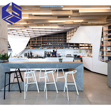 Fashion coffee shop furniture wholesale food shop interior design coffee counter