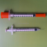 Disposable insulin syringe 1ml 0.5ml with fixed needle