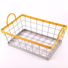 Popular sale wire mesh egg basket with handle not expensive