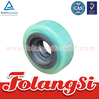 Forklift Parts Balance Wheel used for Nichiyu FBR14-18/FBR10H-13H/75 series, FR10-18/-7 with OEM 14300-41170,282M4-45501