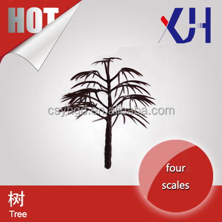 architectural scale miniature artificial plastic model tree