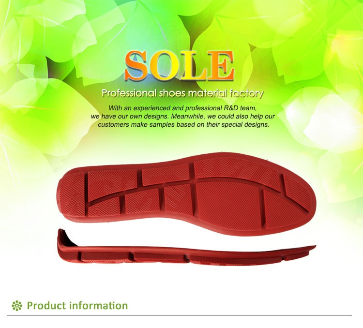 anti slip mens rubber outsole for sale