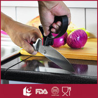 Practical Perfect Professional 2 in1 Handheld Knife And Scissors Sharpener