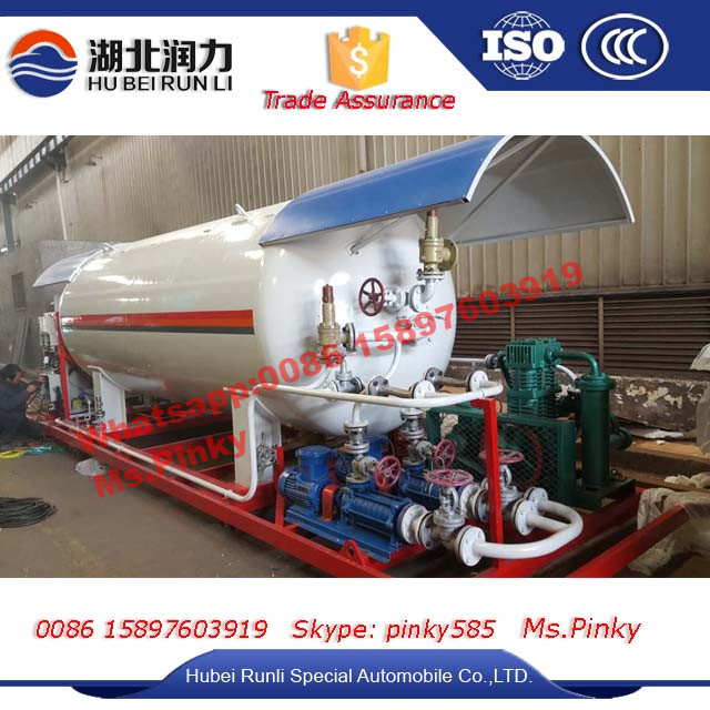 Mobile LPG Filling Plant 10cbm LPG Gas Filling Station for Home Cooking Gas Filling SKID Station by Manufactuer sales