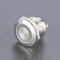 19mm momentary led pushbutton switch/ stay put rectangular ring light led push button switches momentary led