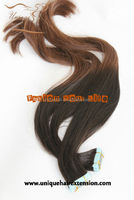 Cuticle intact Grade 5A hair skin weft seamless hair extensions
