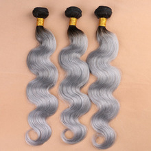 New online sale 100% human hair two tone virgin brazilian hair weft