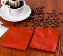 2016 hot sale red outer packing for coffee filter bag