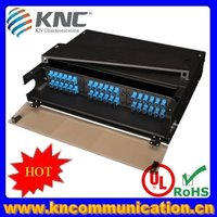 48ports front and rear sliding fiber optic termination box