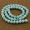 SB6640 Hot Sale Matte amazonite round beads,dull polished aqua blue stone beads
