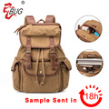 2017 High Quality Custom Printing Vintage Rucksack Canvas Drawstring Backpack