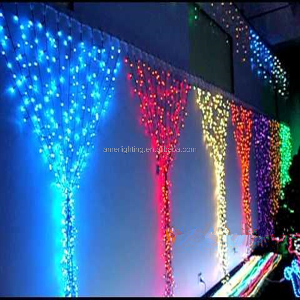 Colorful waterfall led curtain light for stage ,wedding,wall background,2m by 3m