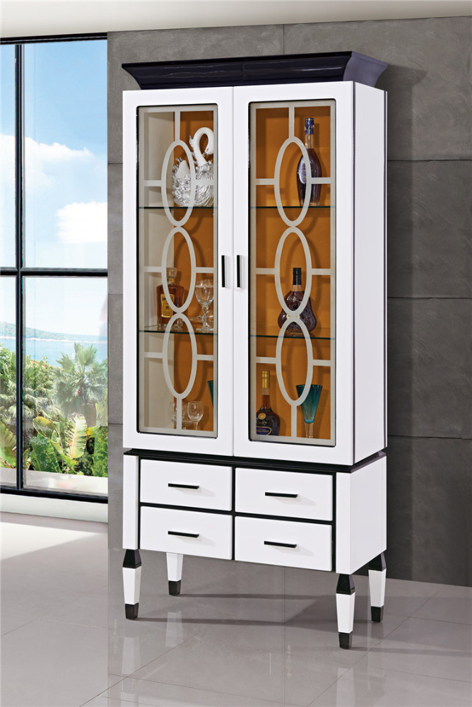 Bathrooms Glass Vitrine Cabinets Wood Household Furniture