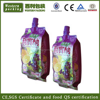 plastic spout fabric softener packaging pouch with printing