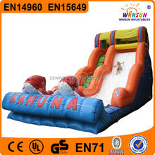 children games funny outdoor big kahuna inflatable water slide for sale