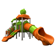 Large indoor plastic slides kids plastic tube slide