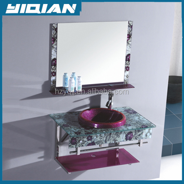 Wash basin price in india High quality bathroom wash basin with flower water transfer printingYQ-7170