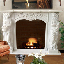 Superior top qulaity hand carving natural marble fireplace for construct decoration