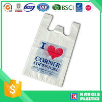 hdpe custom printed plastic t-shirt bag factory