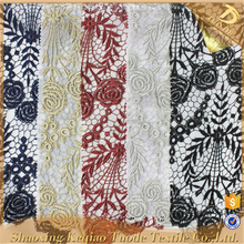 Shaoxing Supplier Chemical Burgundy Lace Fabric Embroidery Designs Allover