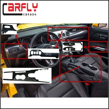 Mustang gt carbon fiber interior accessories inner trim parts for mustang gt body kits 2015up for Carbon fiber mustang interior parts