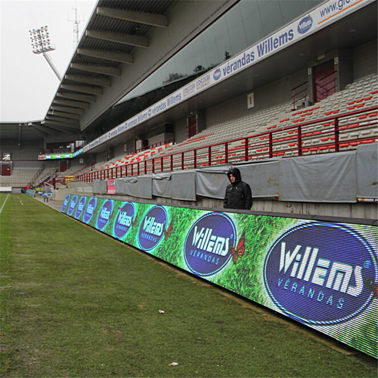 P10 outdoor perimeter led banner screen/perimeter advertising led display