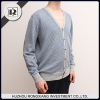 Casual style warm boys heavy wool men cardigan sweaters