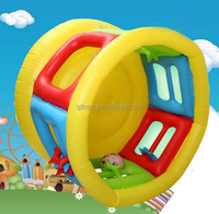Inflatable play bouncer with barrier for toddlers
