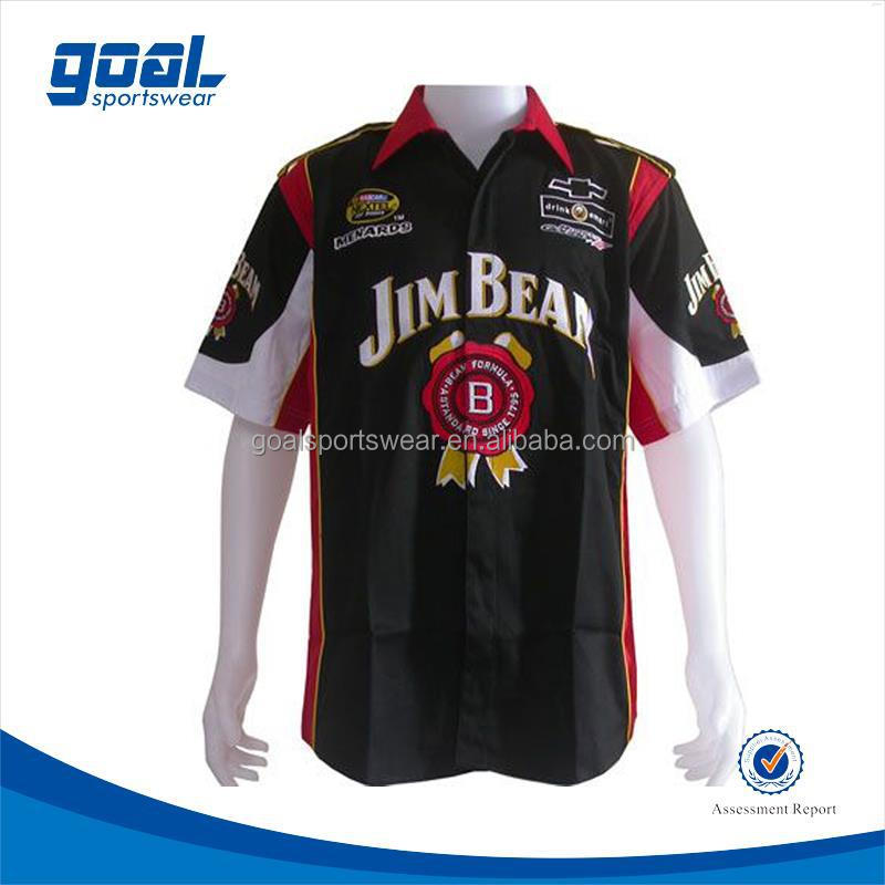 Never fading durable sublimated motorcycle race team shirts
