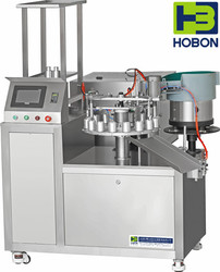 High efficiency automatic adhesive filling capping machine
