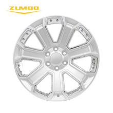 Zumbo-F6685 22x9 Silver with Chrome Inserts Popular design car alloy wheels silver wheel rim rims with full size