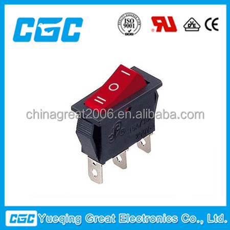 High Quality SPDT KCD3-103 3pins Rocker Switch