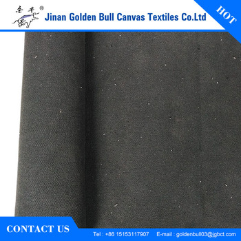 Yarn Dyed Black Polyester Cotton 710gsm Heavy Duty Bag Fabric