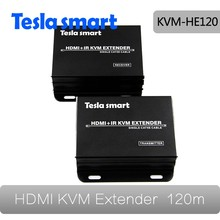Support One Transmitter to More Receivers KVM Extender IR 120m(400ft) HDMI KVM IP Extender with Support TCP/IP Standard