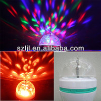 Full Color 3W Auto Rotating Home Party Led Decoration Lamp/ Bulb