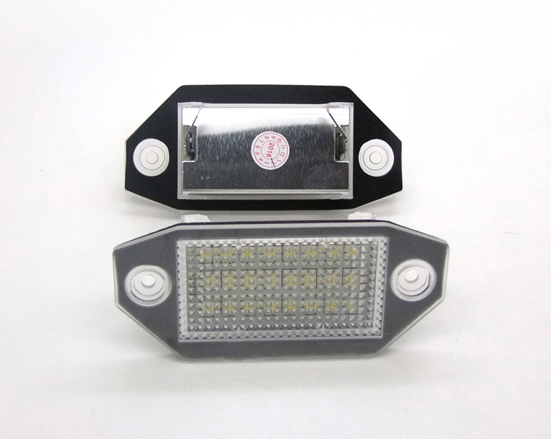 2017 Newest high quality factory price 3014SMD 18leds Mondeo MK3 MKIII Led License Plate