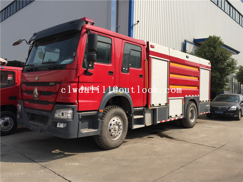 Howo Airport 60m Shot Fire Engine Manufacture Fire Fighting Truck